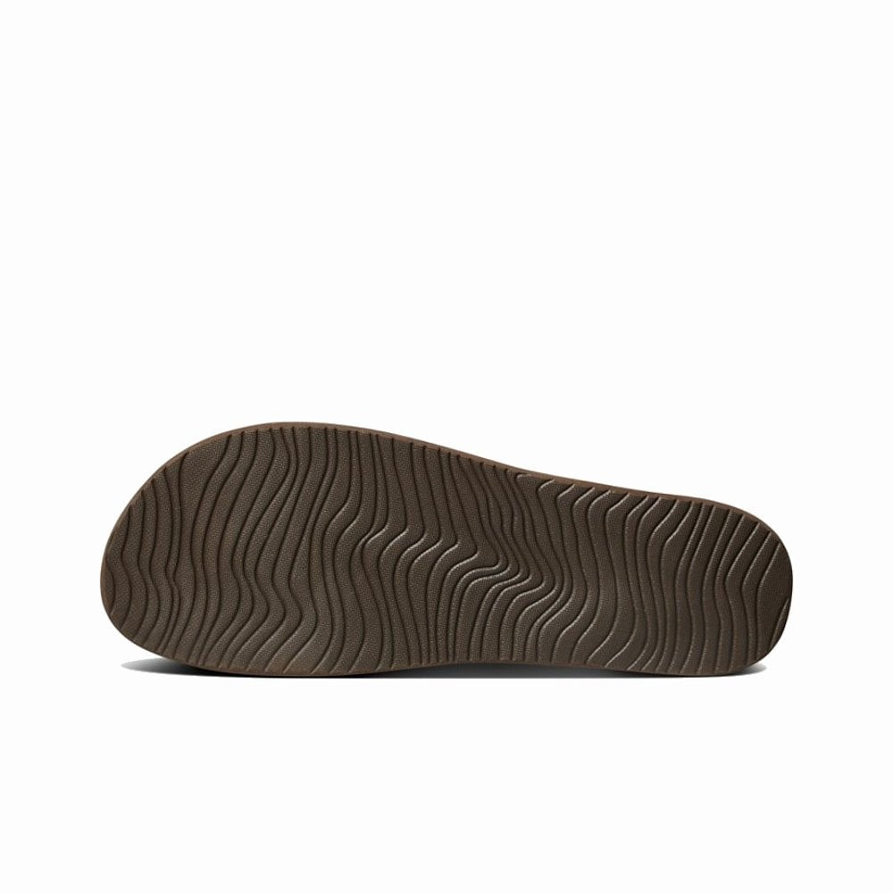 599eda9ca649 ... Reef Womens Cushion Bounce Court Flip Flops Sandals - Brown Gold