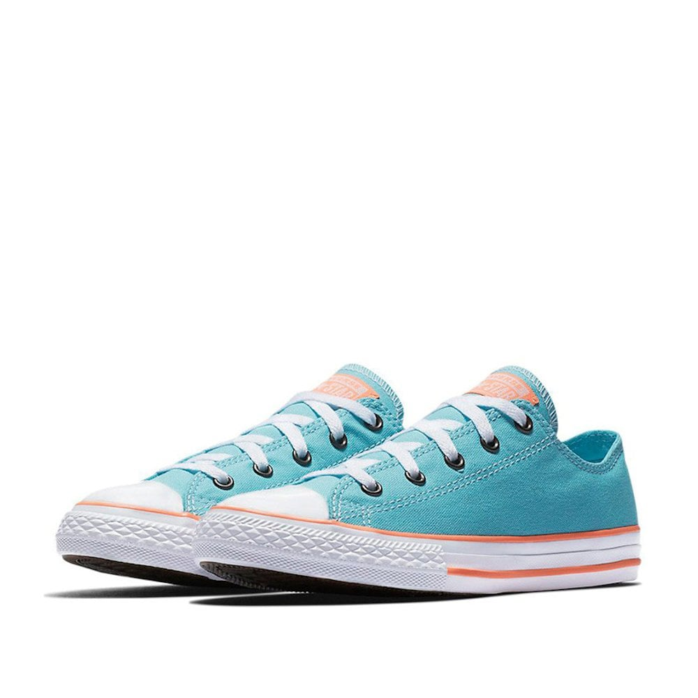 1f57914691b7 ... Converse Kids Girls Chuck Taylor All Star Kids Low Top Trainers - Bleached  Aqua