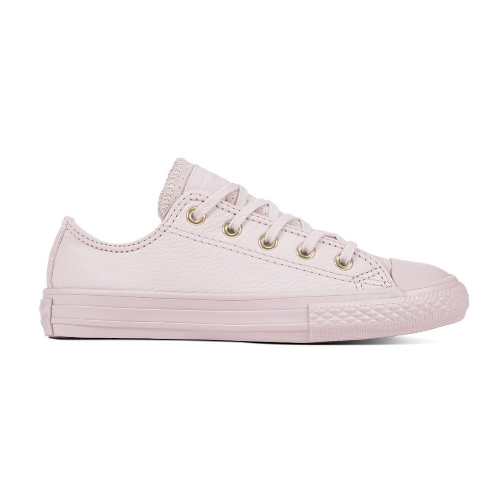 25da44e9406b Converse Kids Junior All Star Leather Girls Trainers - Barely Rose ...