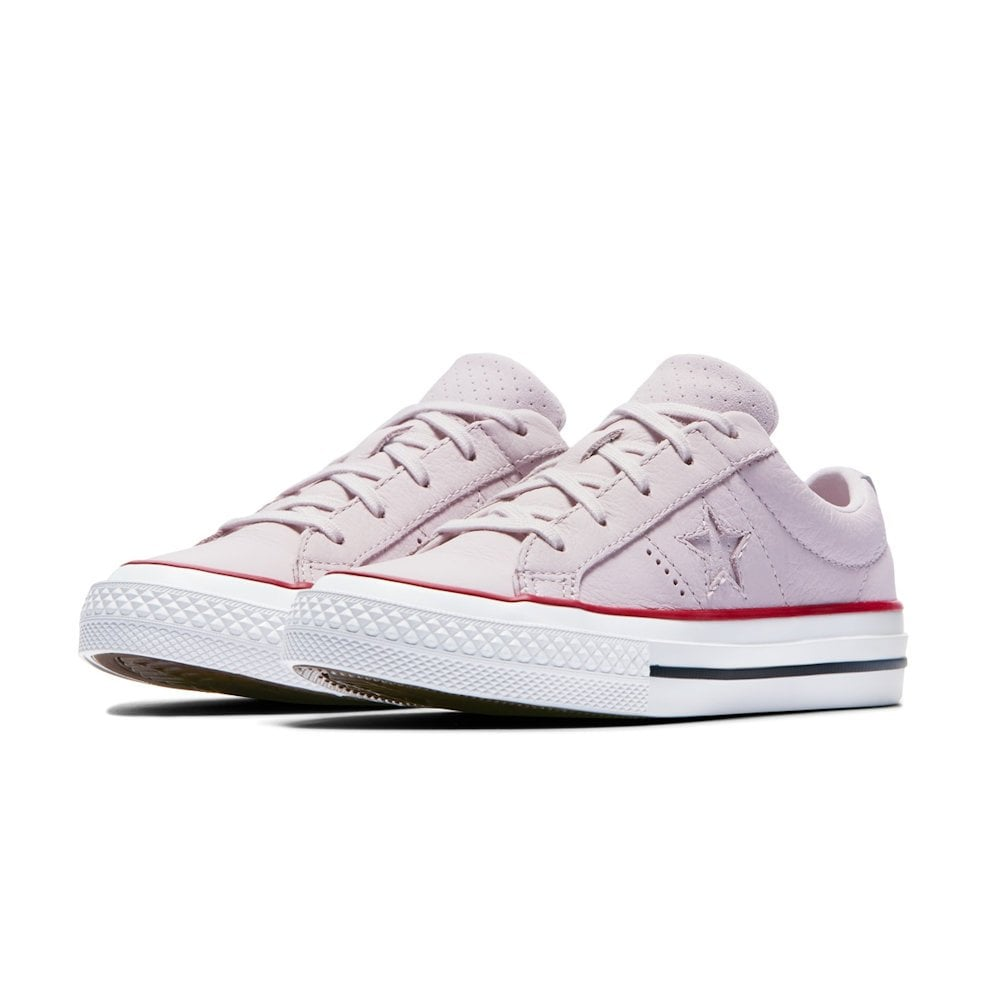 af7bda09e802 ... Converse Kids Junior One Star Leather New Heritage Girls Trainers -  Pale Pink