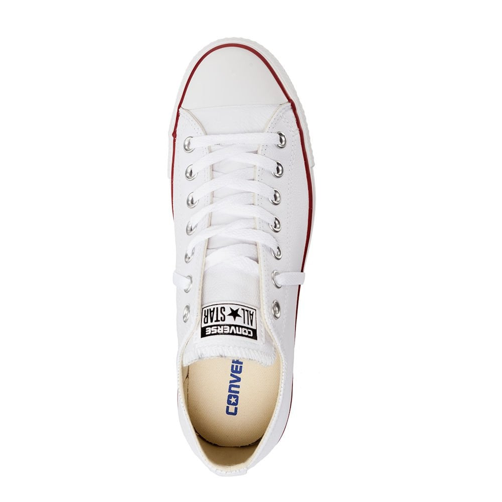 a1d1b533a91d ... Converse Unisex Chuck Taylor All Star Lo Ox White Leather Trainers ...