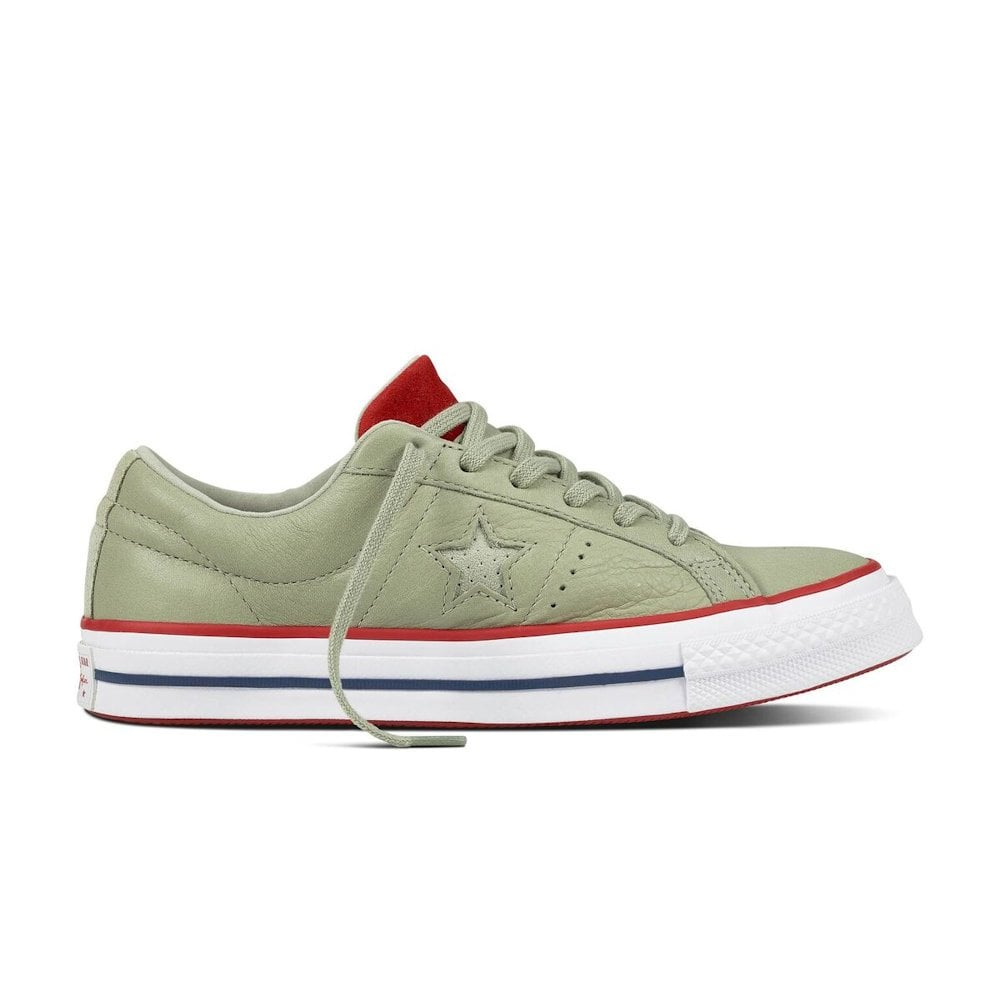 a008b22d04 Converse Womens One Star New Heritage Lace Up Sneakers - Khaki