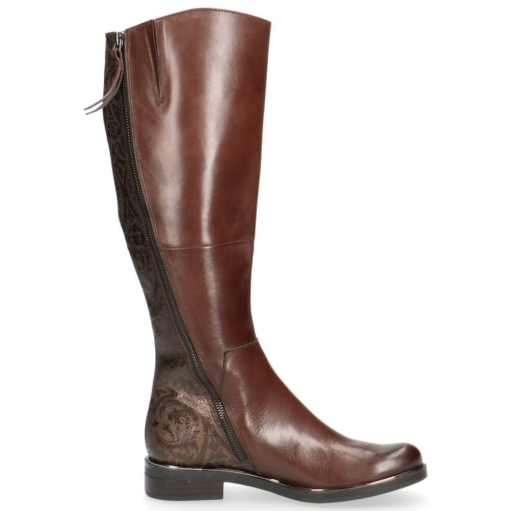 5af31482c09 Caprice Womens Brown Flat Long Knee High Boots   Millars Shoe Store