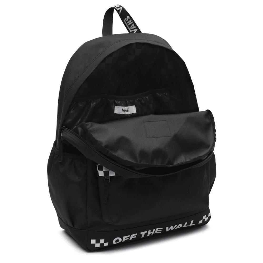 83f84301e12400 Vans Sporty Realm Plus 27L Backpack - Black - Millars Shoe Store