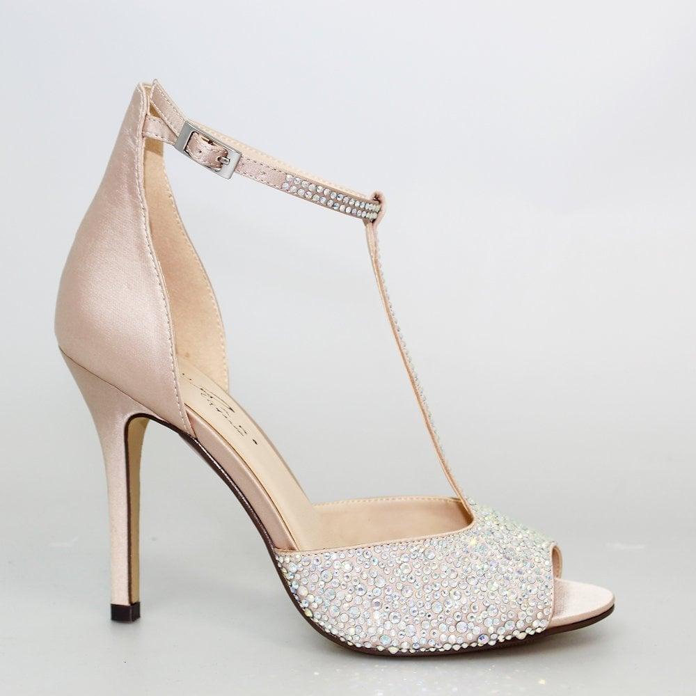 9a1e23271b69 ... Lunar Lunar Ruth High Heel Evening T-Bar Sandals - Nude ...