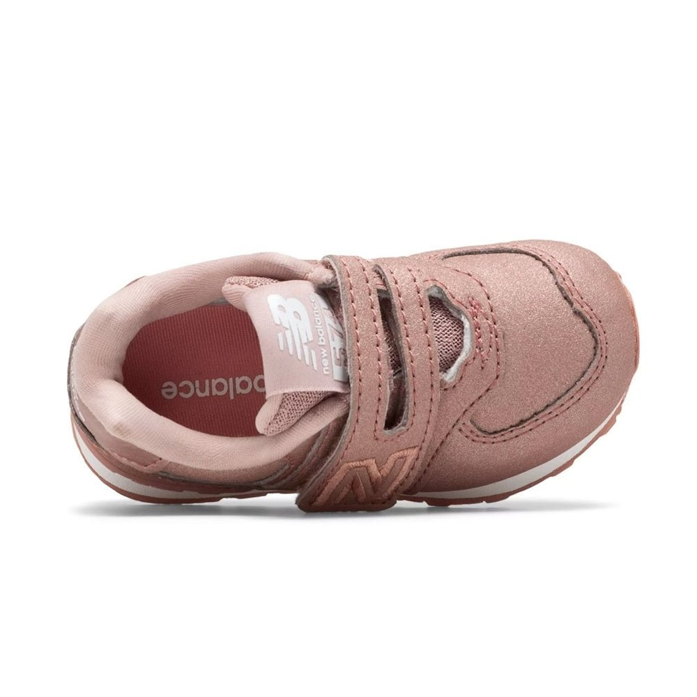 579d5120c2339 ... New Balance Infant 574 Core Velcro Sneakers - DusK Pink Metallic ...