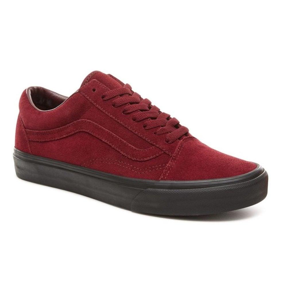 fe2be50769e3 Vans Unisex Suede Black Outsole Old Skool Shoes - Burgundy   Millars Shoe  Store
