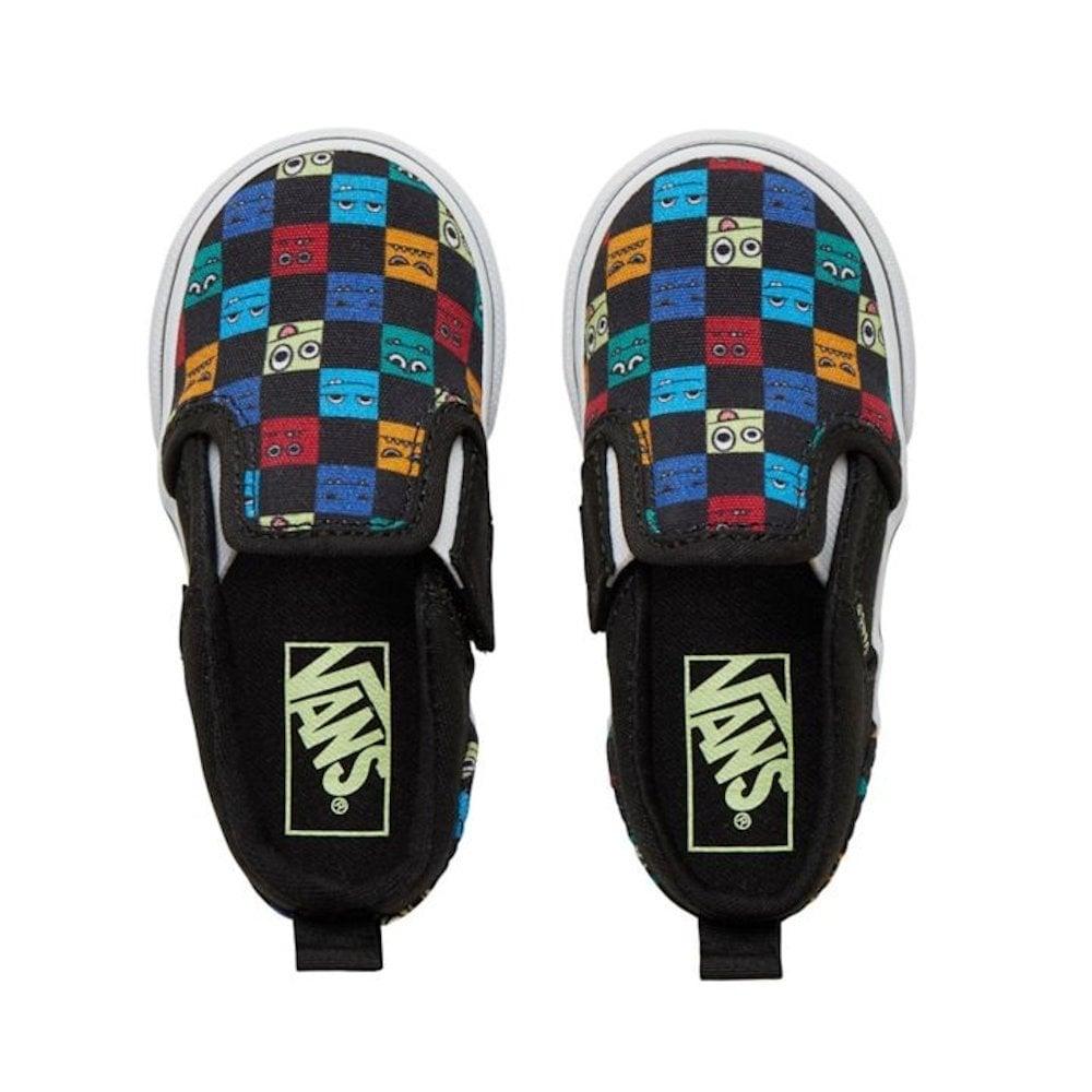 53187cd98db52f ... Vans Kids Toddler Monster Asher V Slip On Shoes - Checkerboard ...