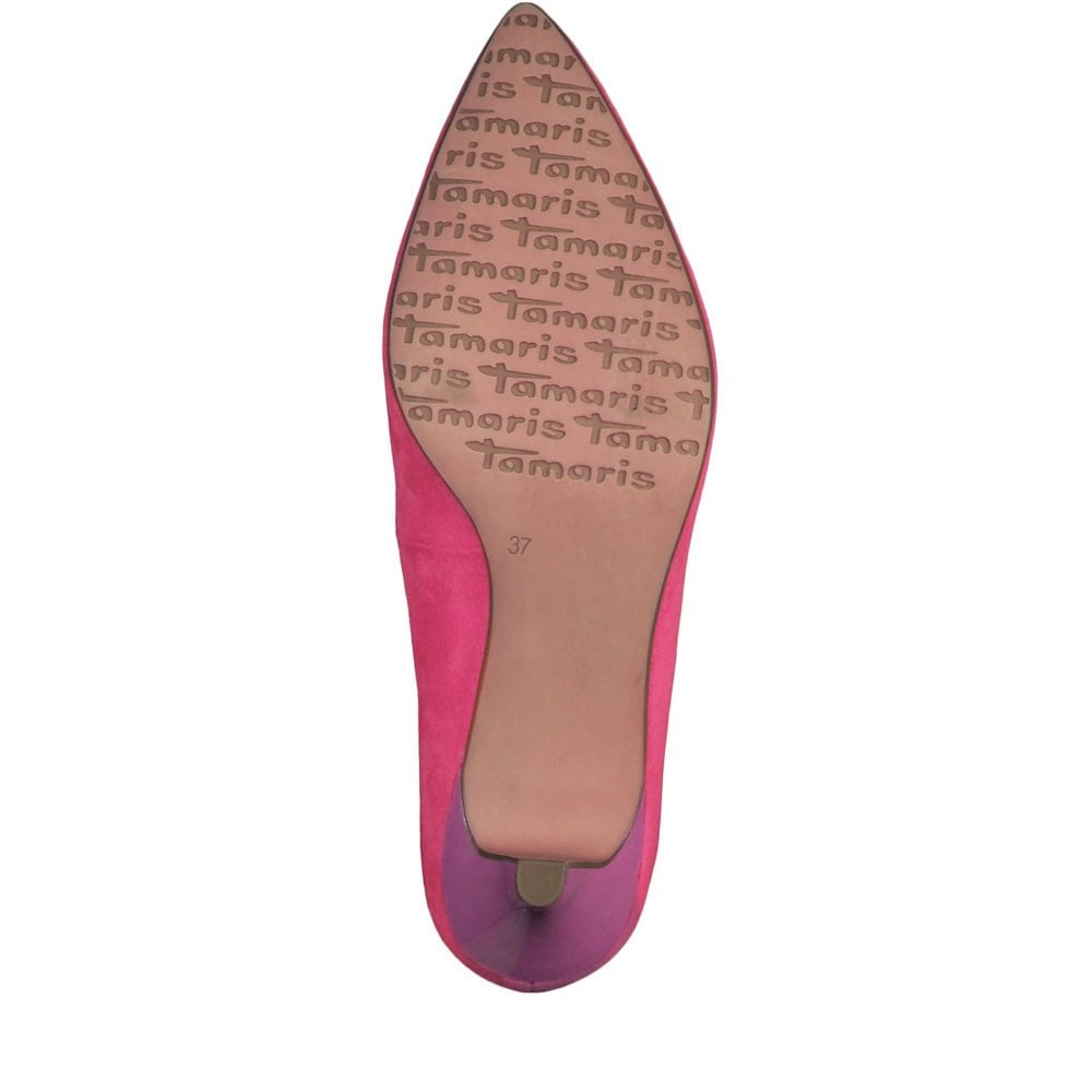 552bc54e7418 Tamaris Womens Fatsia Medium Funnel Heel Pumps - Fuxia   Millars ...