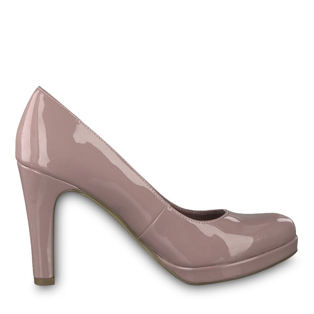 3a8844121f3d ... Tamaris Womens Lycoris High Heel Court Shoes - Mauve Patent ...