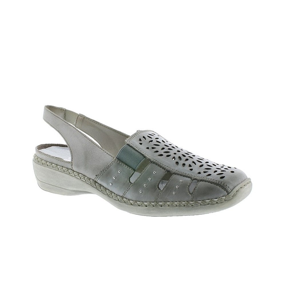 24777d2a685 Rieker Womens Leather Casual Slingback Shoes - Sky Blue Ice ...