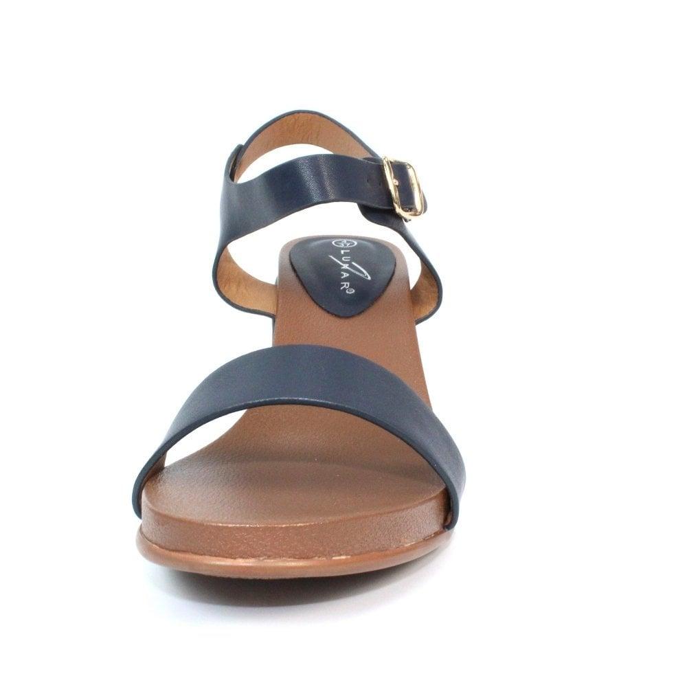 186592ed23d Lunar Rocco Summer Wedge Heeled Sandals - Blue