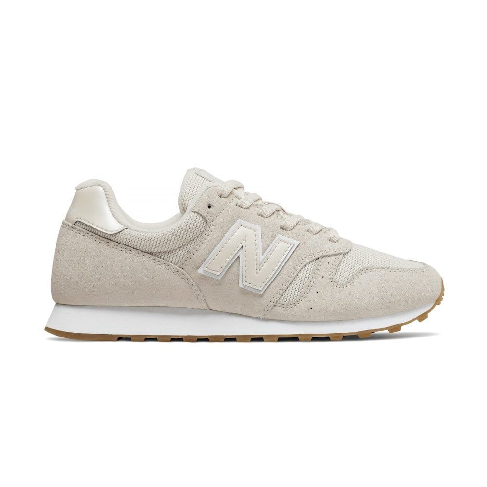 New Balance Womens 373 Lace Up Suede Sneakers Beige