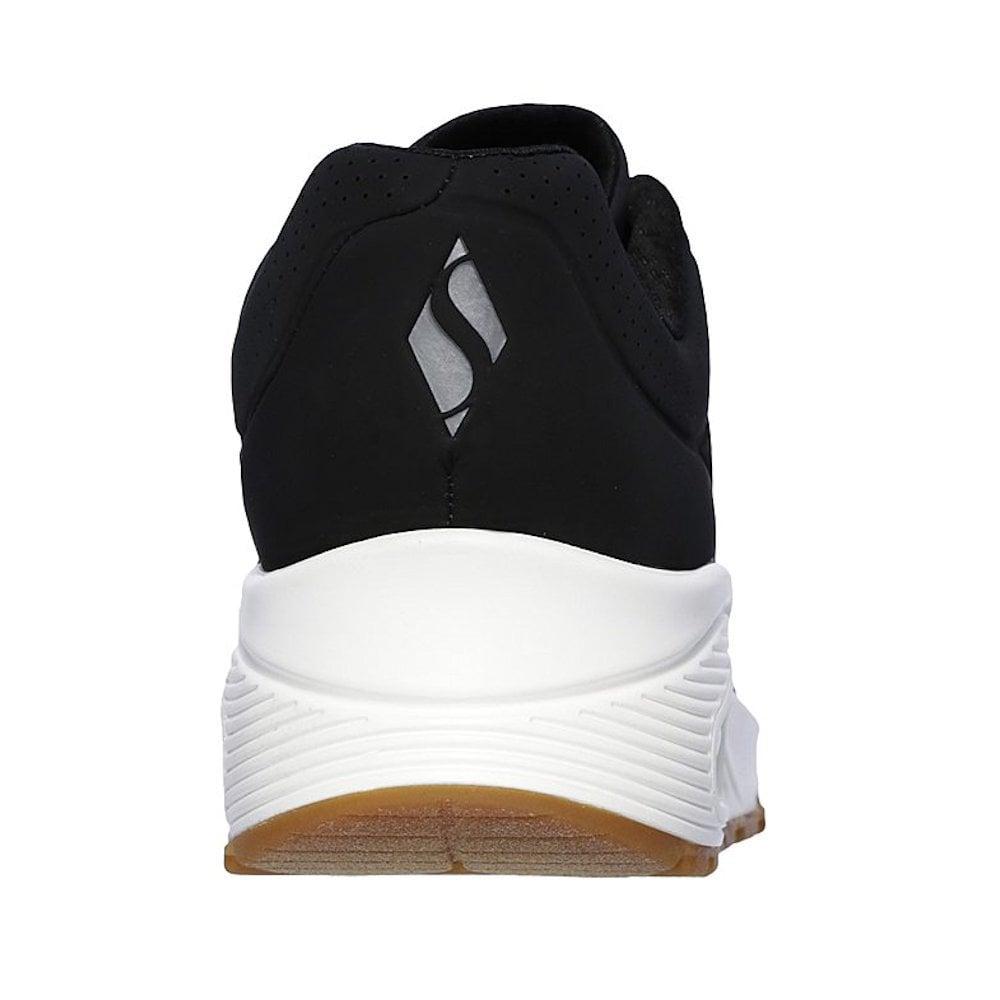 652029ba8bfe Skechers Womens Uno Stand on Air Sneakers - Black   Millars Shoe Store