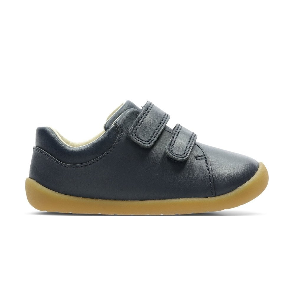 10f58f77170b ... Clarks Girls/Boys Roamer Craft H Toddler Kids Leather Shoes - Navy ...