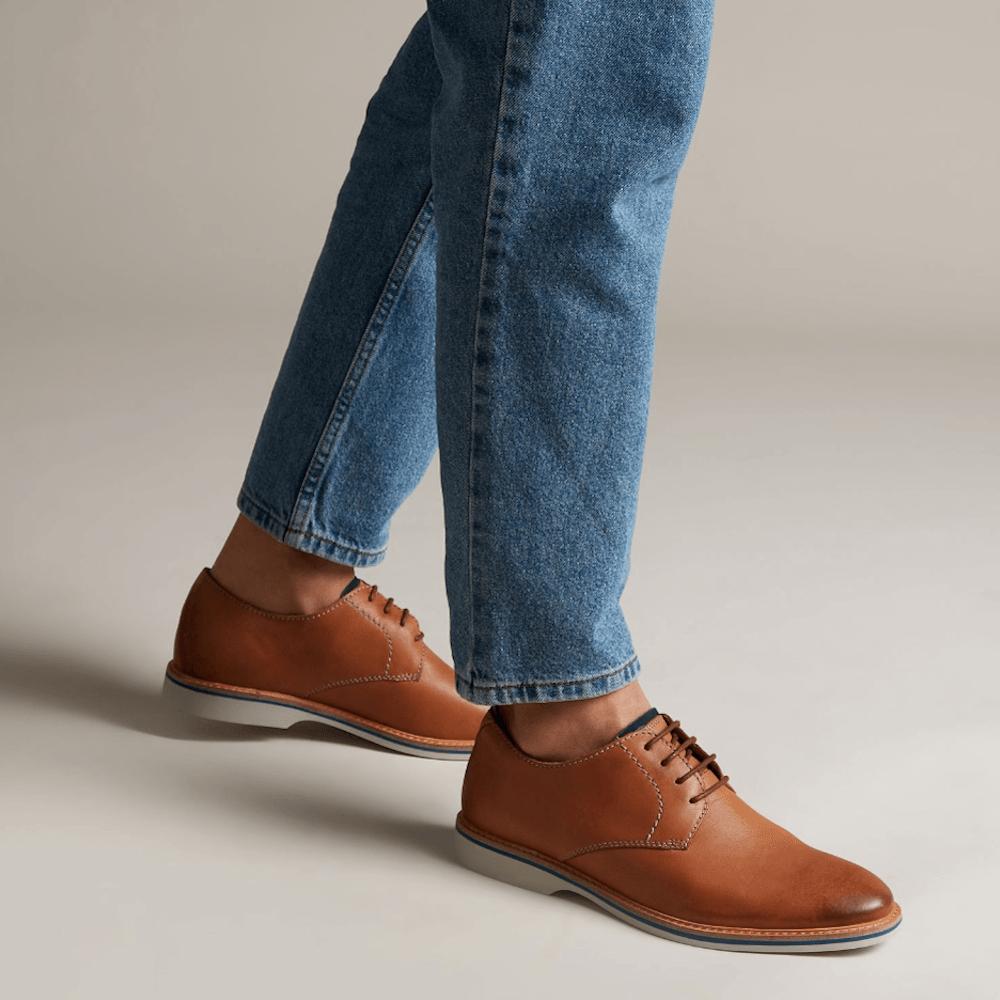 17082044740c Clarks Atticus Lace Mens Smart Shoes - Tan Leather / Millars Shoe Store