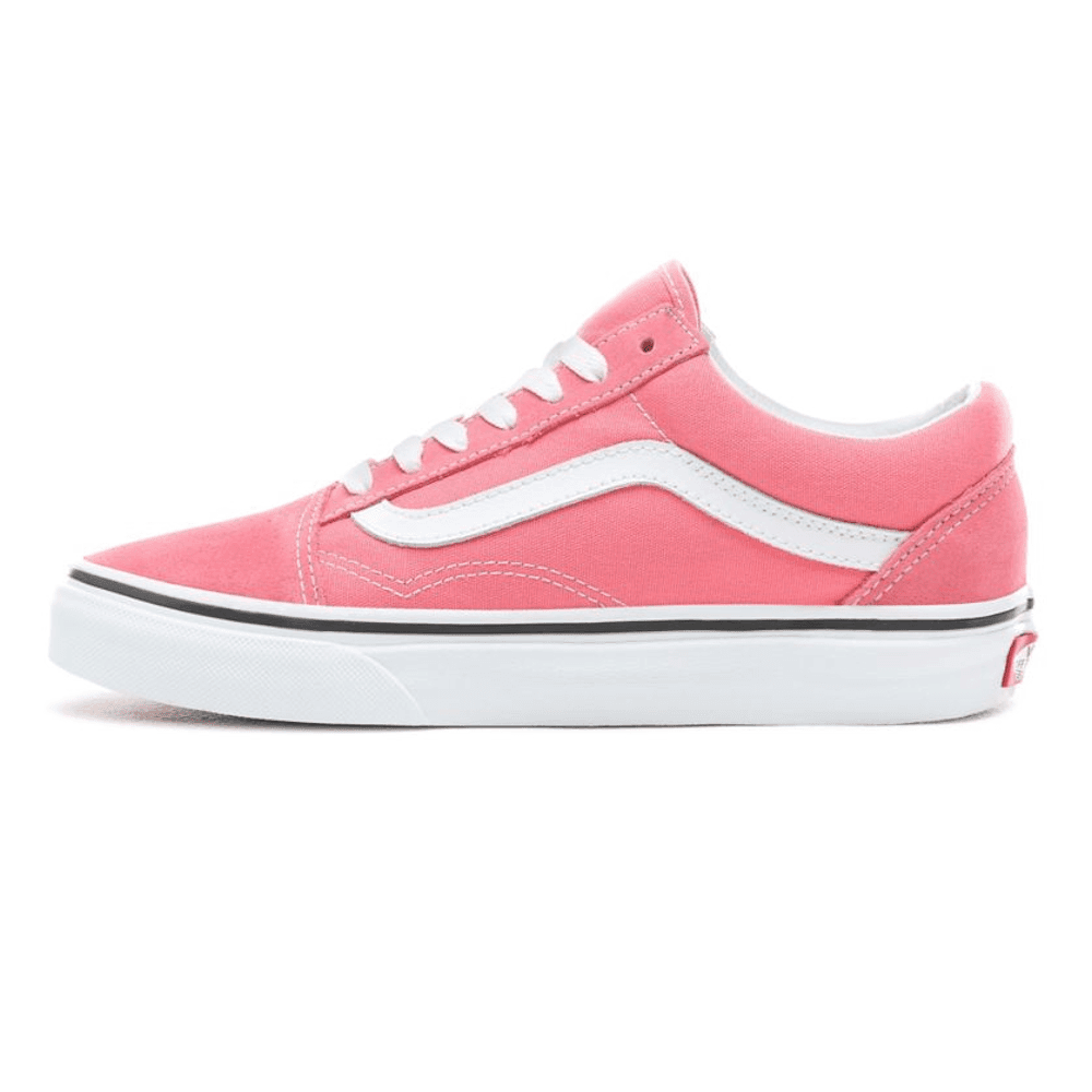 e3dae7617b390f Vans Womens Old Skool Low Top Sneakers - Strawberry Pink True White ...