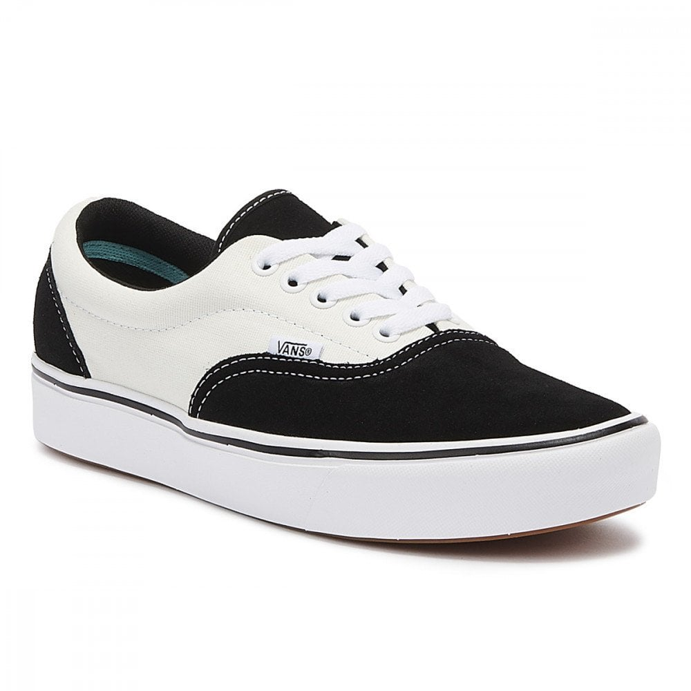 Vans Unisex Suede Canvas Comfycush Era Sneakers - Black/Marshmallow