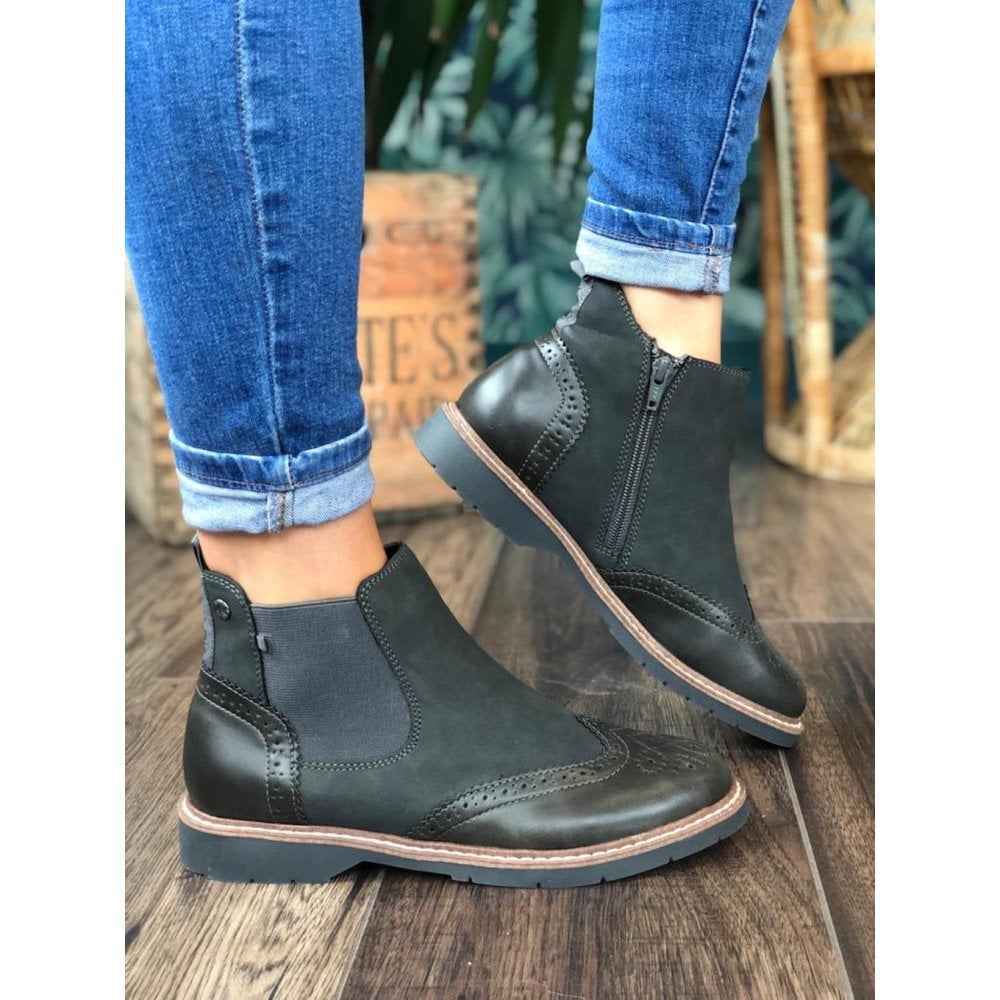 S Oliver 25444- grey Chelsea boot