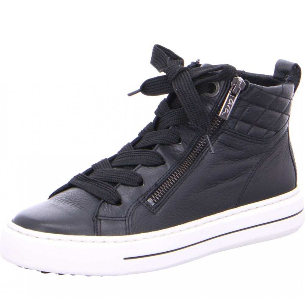 Ara 47494 Ladies Black Trainer Boots