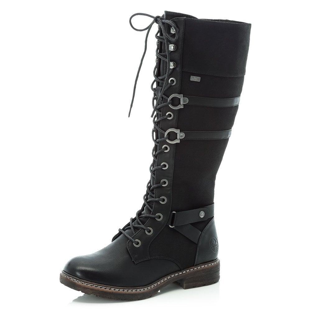 Rieker 94732 Black Long Boot |Millars