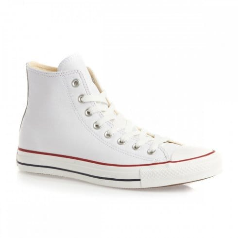 Converse Unisex Chuck Taylor All Star Hi Top White Leather Sneaker