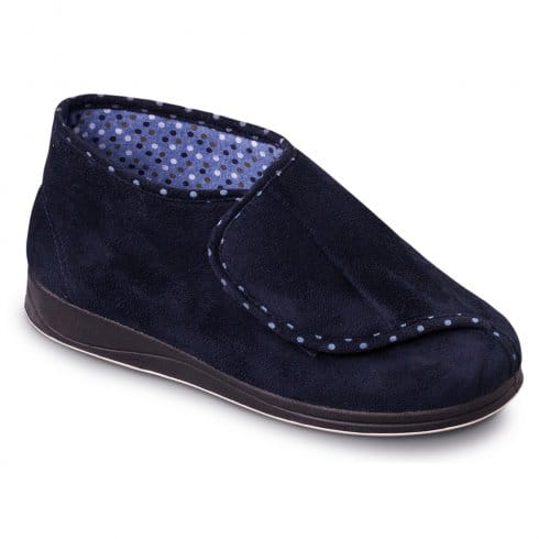 Padders Womens Cherish Slippers - 449 - Navy