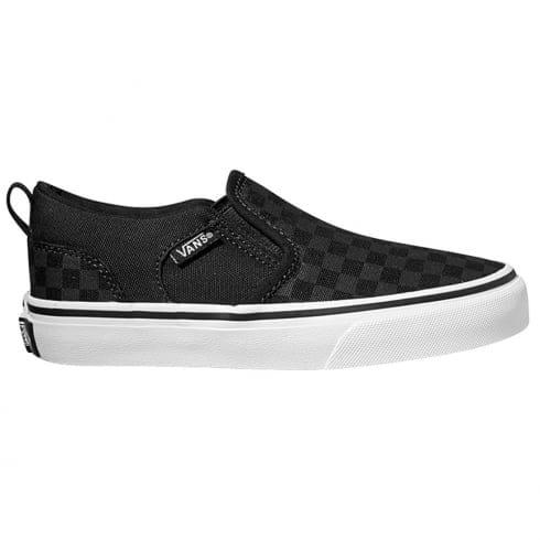 6601cc5211 Vans Boys Y Asher Trainers Black