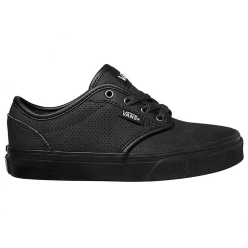 Vans Boys Atwood Leather Trainers - Black