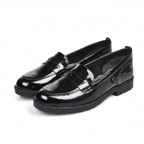 Kickers Womens/Girls Lachly Loafer Patent Black -1-14091