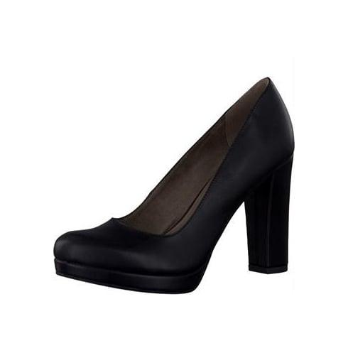 Tamaris Womens Black Matt Platform Heels -22435-27 020