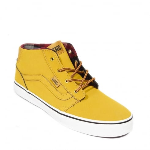 Vans Chapman Mid Waxed Junior Shoes - Yellow- VN0A2XSSK76