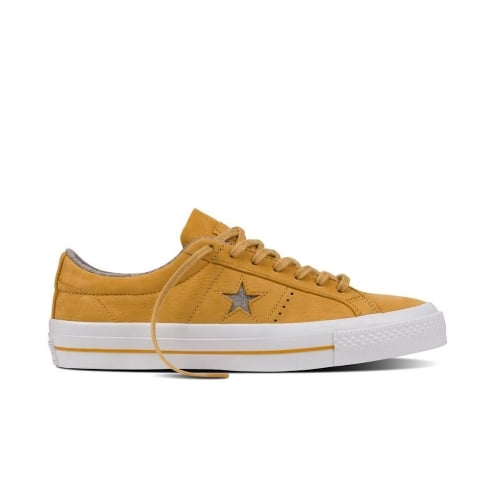 e11b2a1faf4f Converse CONS One Star Leather Low Top Trainers - Yellow - 153718C