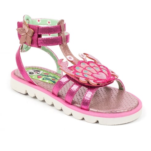 Irregular Choice Girls Crab Gladiator Pink Sandals