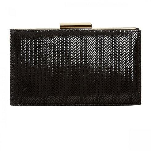 Van Dal Shoes Van Dal Zinnia Black Chevron Print Clutch Handbags
