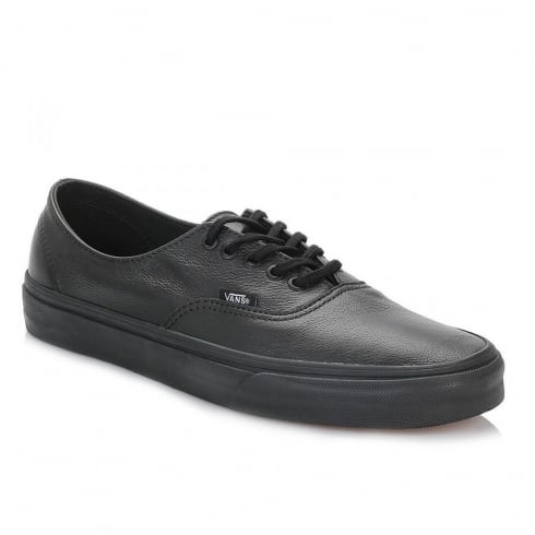 Vans Black Authentic Decon Premium Leather Trainers