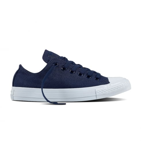 Converse Womens Platinum Midsoles Ox Navy Lace Up Sneakers