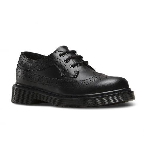 Dr. Martens Dr.Martens Junior Black Lace Up Brogues Shoe - 3989