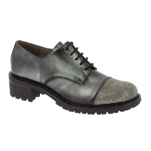 Wonders E-5604 Wonders Grey Micro Stud Toe Shoe
