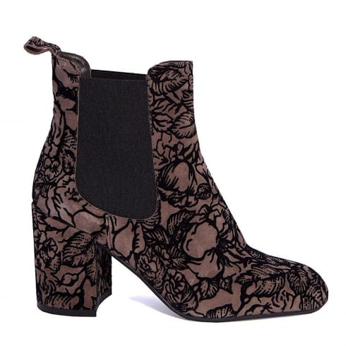 Paco Herrero Floral Block Heeled Boot
