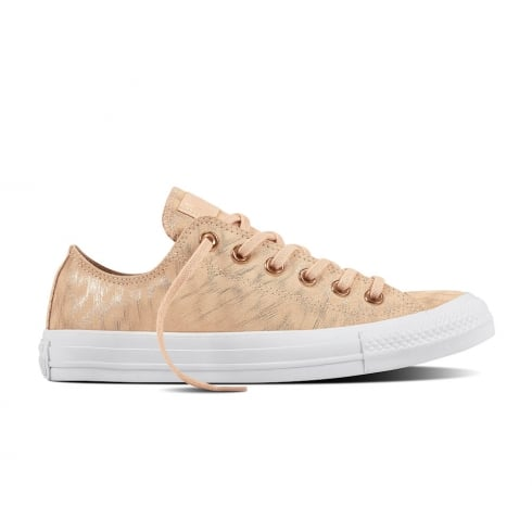 679512e44b28 Converse Womens Shimmer Suede Dusk Pink White Trainers 557999C
