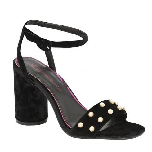 920700f897c Dolcis Ladies Blanche Black Velvet Block Heeled Strappy Sandals