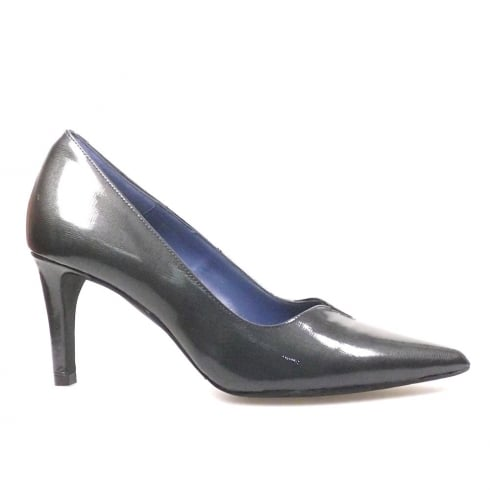 Perlato Grey Patent Pointed Court