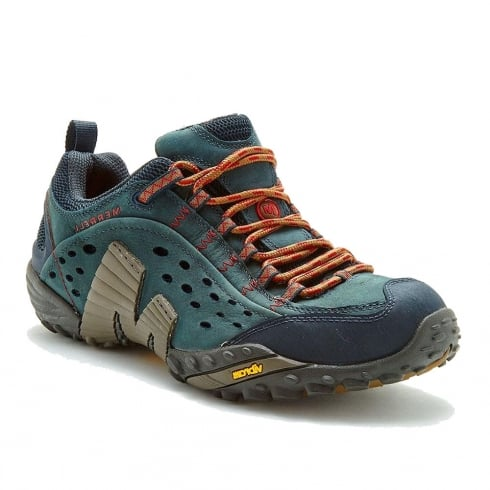 Merrell Mens Intercept Blue Low-Cut Hiking Shoes