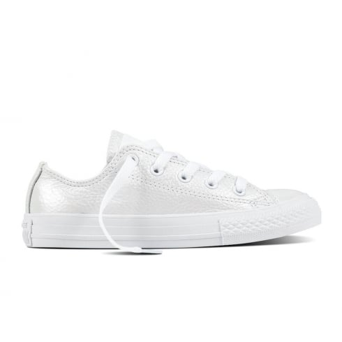 Converse Kids All Star Ox Leather Sneakers - White Mono