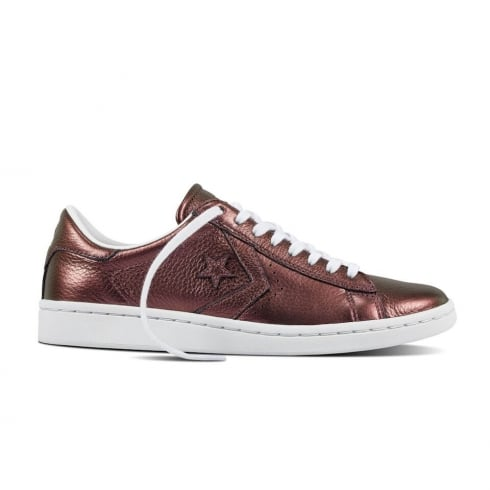 Converse Women's Iridescent Pro Leather Casual Shoes - Purple