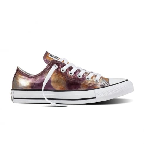 e706c298b6e638 Converse Chuck Taylor All Star Ox Dusk Pink Metallic Low Trainers ...