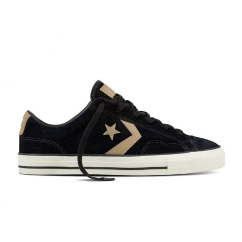 f54909e4bab4 Converse Men s Star Player Ox Suede Low Top Trainers - Black ...