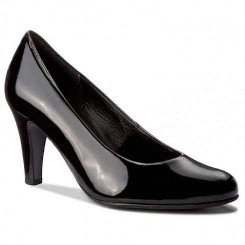 Gabor Black Patent Court High Heeled Pumps