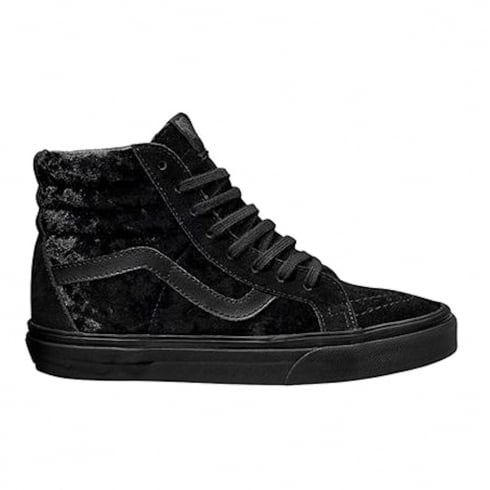 c09bd3446f Vans Womens Black Velvet SK8-Hi Reissue Zip Sneakers VA2XSBNQ9   Millars  Shoe Store